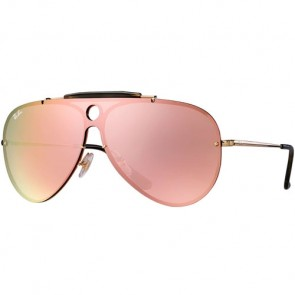 Ray-Ban Blaze Shooter Sunglasses - Gold/Pink Mirror