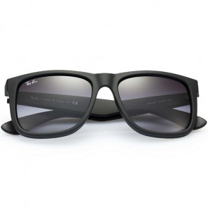 Ray-Ban Justin Sunglasses - Rubber Black/Grey Gradient