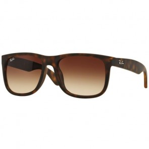 Ray-Ban Justin Sunglasses - Light Havana Rubber/Brown Gradient