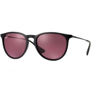 Ray-Ban Erika Polarized Sunglasses - Black/Violet Mirror