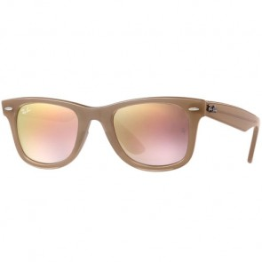 Ray-Ban Wayfarer Ease Sunglasses - Beige/Grey Gradient/Brown Mirror