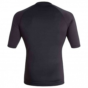 Quiksilver All Time Short Sleeve Rash Guard - Black