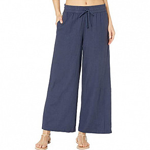 Roxy Women's Redondo Beach Pants - Mood Indigo - front