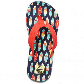 Reef Youth Ahi Sandals - Red Surfer - Top