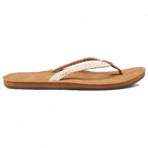 Reef Women's Gypsy Macrame Sandals - Cream