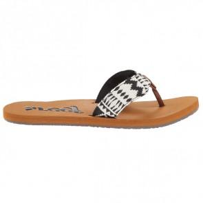 Reef Women's Scrunch TX Sandals - Black/White