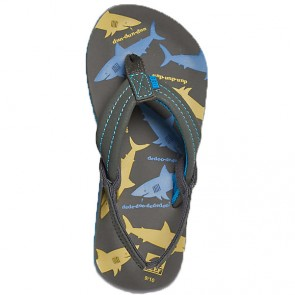 Reef Youth Ahi Glow Sandals - Blue/Yellow