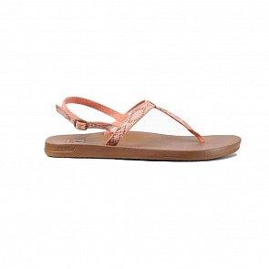 Reef Women's Cushion Bounce Slim T Sandals - Coral Beads