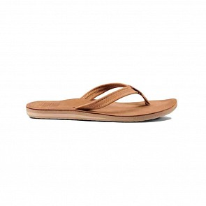 Reef Women's Voyage Lite Leather Sandals - Saddle