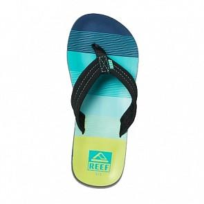 Reef Youth Ahi Sandals - Aqua/Green