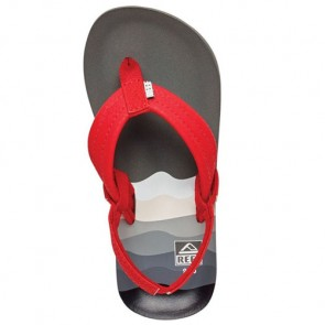 Reef Youth Ahi Sandals - Red/Grey