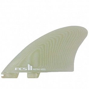 FCS II Fins Retro Keel Twin Fin Set - Clear
