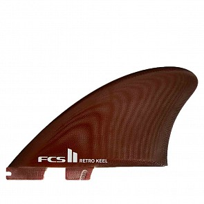 FCS II Fins Retro Keel Twin Fin Set - Red
