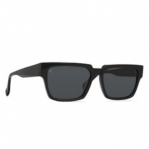 Raen Rhames Sunglasses - Crystal Black/Smoke - Side Angle