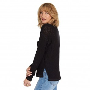 Billabong Women's Ride Along Long Sleeve Tee - Black