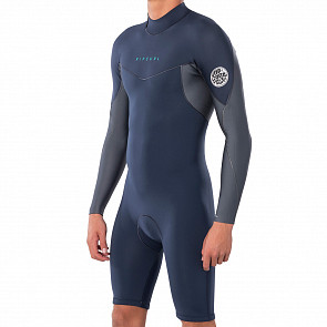 Rip Curl Dawn Patrol 2mm Long Sleeve Back Zip Spring Wetsuit - Slate