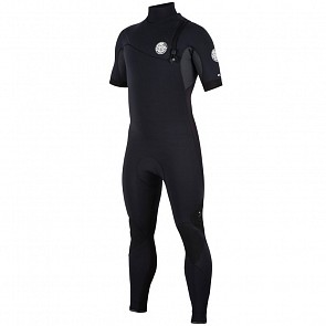 Rip Curl E-Bomb 2mm Short Sleeve Zip Free Wetsuit - Black