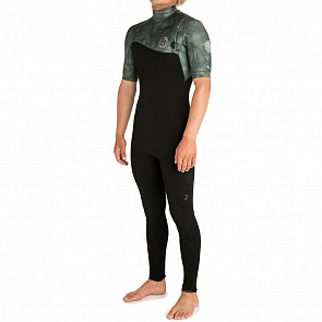 Rip Curl E-Bomb 2mm Short Sleeve Zip Free Wetsuit - Camo