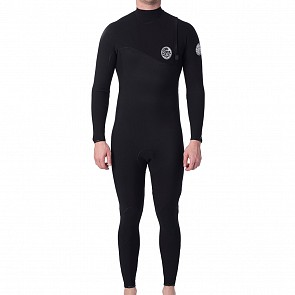 Rip Curl Flashbomb 4/3 Zip Free Wetsuit - Black
