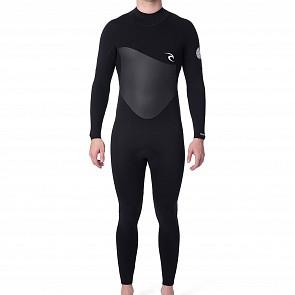 Rip Curl Omega 3/2 Back Zip Wetsuit - Black