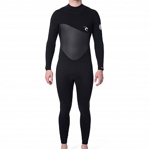 Rip Curl Omega 4/3 Back Zip Wetsuit - Black