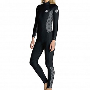 Rip Curl Women's Dawn Patrol 3/2 Back Zip Wetsuit - Black/Wash