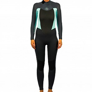 Rip Curl Women's Omega 3/2 Back Zip Wetsuit - Blue