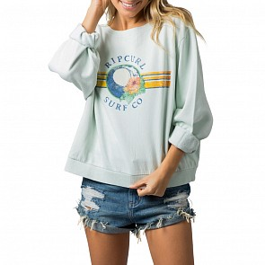 Rip Curl Women's Waves Lines Sweatshirt - Ice Blue