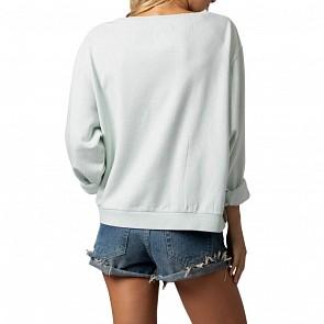Rip Curl Women's Waves Lines Sweatshirt - Ice Blue