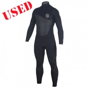 USED Rip Curl Flash Bomb Plus 4/3 Zip Free Wetsuit - Size S