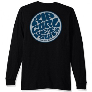 Rip Curl Jan Juc Custom Long Sleeve T-Shirt - Black