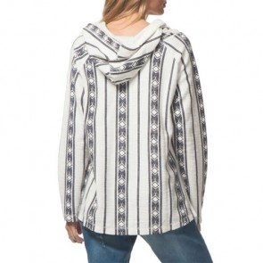 Rip Curl Women's Skyway Poncho Hooded Top - Vanilla