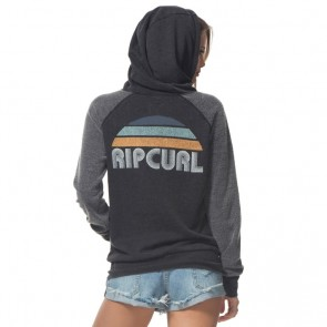 Rip Curl Women's Sunrise Club Zip Hoodie - Charcoal