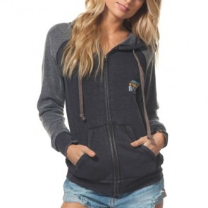Rip Curl Women's Sunrise Club Zip Hoodie - Charcoa