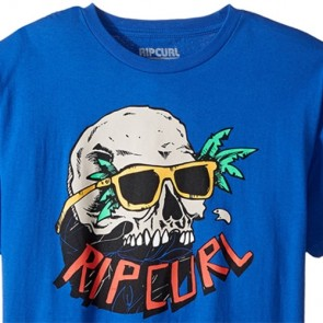Rip Curl Youth Skull Vibes T-Shirt - Royal Blue