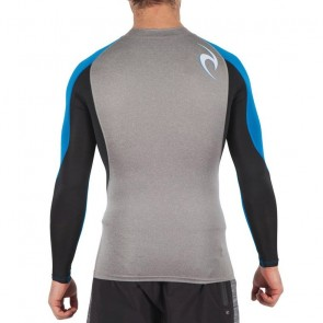 Rip Curl Wave Long Sleeve Rash Guard - Light Grey