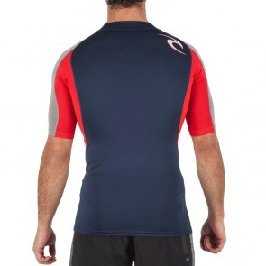 Rip Curl Wetsuits Wave Short Sleeve Rash Guard - Red
