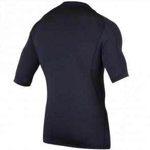 Rip Curl Wetsuits Dawn Patrol Short Sleeve Rash Guard - Black