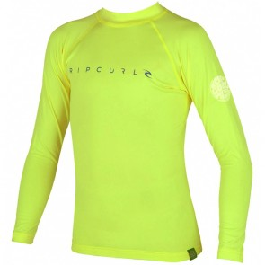Rip Curl Wetsuits Youth Dawn Patrol Long Sleeve Rash Guard - Lime