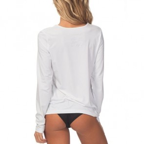Rip Curl Women's Whitewash Long Sleeve Rash Guard - White