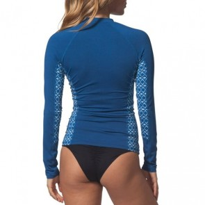 Rip Curl Wetsuits Women's Trestles Chest Zip Long Sleeve Rash Guard - Navy