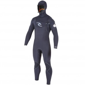 Rip Curl E-Bomb 4.5/3.5 Hooded Chest Zip Wetsuit - Black