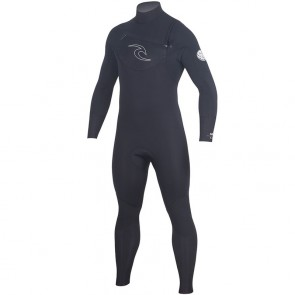 Rip Curl Dawn Patrol 4/3 Chest Zip Wetsuit - Black