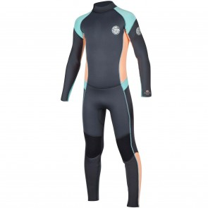 Rip Curl Youth Girls Dawn Patrol 4/3 Back Zip Wetsuit - 2017