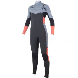 Rip Curl Women's Flash Bomb 4/3 Chest Zip Wetsuit - Grey