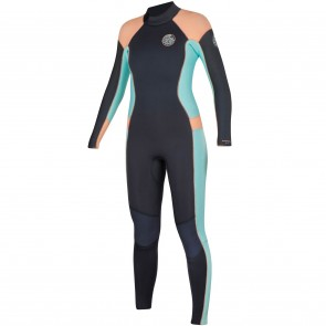 Rip Curl Women's Dawn Patrol 4/3 Back Zip Wetsuit - Peach