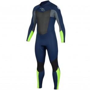 Rip Curl Omega 3/2 Flatlock Back Zip Wetsuit - Navy