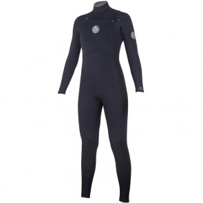 Rip Curl Women's Dawn Patrol 4/3 Chest Zip Wetsuit - Black