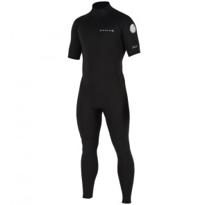 Rip Curl Aggrolite 2mm Short Sleeve Back Zip Wetsuit - Black