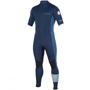 Rip Curl Aggrolite 2mm Short Sleeve Back Zip Wetsuit - Navy